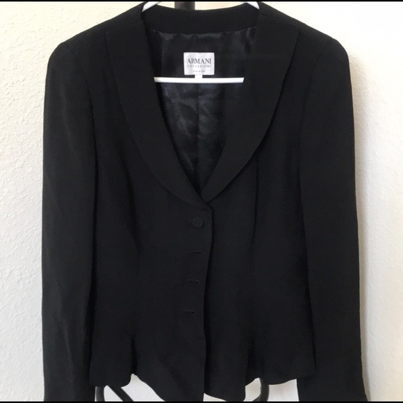 a4086dc6 Armani Peplum Collezioni Jacket, Black Size 8
